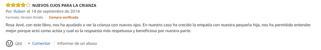 Review positiva en Amazon - Para entender la transformación de desea tu paciente - Copywriting
